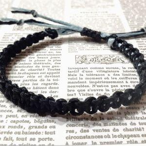 🧡3/$18🧡 Black and Blue Macramé Bracelet